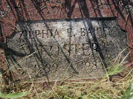 BAILEY FOSTER, ZILPHIA E. - Benton County, Arkansas | ZILPHIA E. BAILEY FOSTER - Arkansas Gravestone Photos