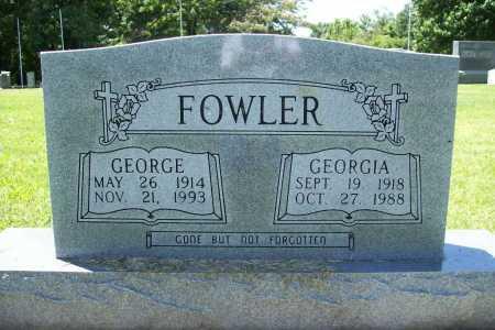 FOWLER, GEORGE - Benton County, Arkansas   GEORGE FOWLER - Arkansas Gravestone Photos