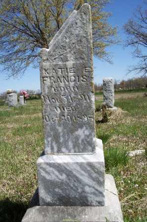 FRANCIS, KATIE E. - Benton County, Arkansas   KATIE E. FRANCIS - Arkansas Gravestone Photos