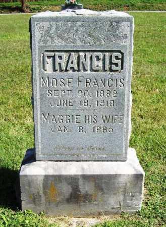 FRANCIS, MOSE - Benton County, Arkansas | MOSE FRANCIS - Arkansas Gravestone Photos