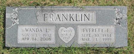 FRANKLIN, EVERETT E - Benton County, Arkansas | EVERETT E FRANKLIN - Arkansas Gravestone Photos