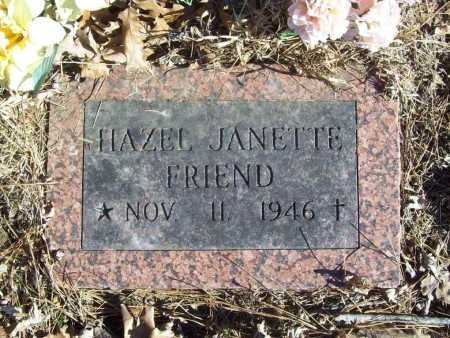 FRIEND, HAZEL JEANETTE - Benton County, Arkansas | HAZEL JEANETTE FRIEND - Arkansas Gravestone Photos