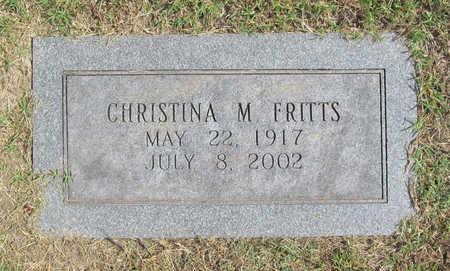 CARSON FRITTS, CHRISTINA M - Benton County, Arkansas | CHRISTINA M CARSON FRITTS - Arkansas Gravestone Photos