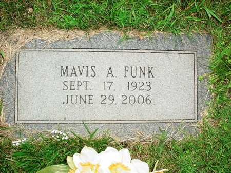 FUNK, MAVIS A. - Benton County, Arkansas   MAVIS A. FUNK - Arkansas Gravestone Photos