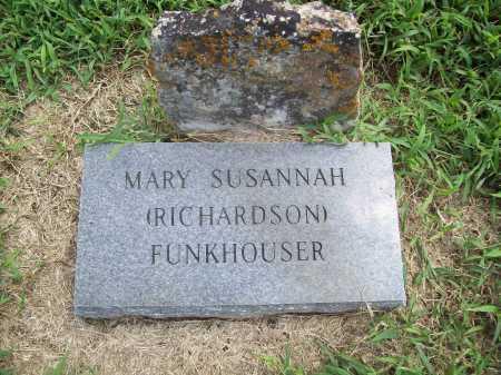 RICHARDSON FUNKHOUSER, MARY SUSANNAH - Benton County, Arkansas | MARY SUSANNAH RICHARDSON FUNKHOUSER - Arkansas Gravestone Photos