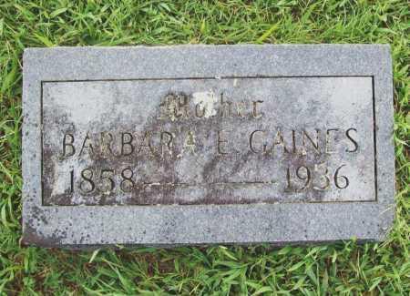 GARVIN GAINES, BARBARA ELIZABETH - Benton County, Arkansas | BARBARA ELIZABETH GARVIN GAINES - Arkansas Gravestone Photos