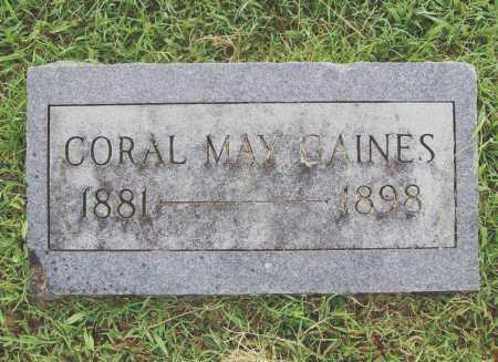 GAINES, CORAL MAY - Benton County, Arkansas   CORAL MAY GAINES - Arkansas Gravestone Photos