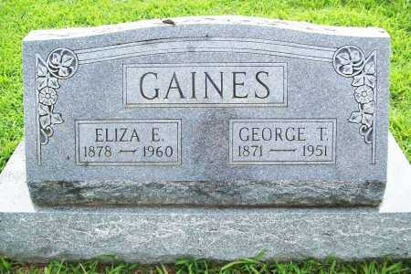 GAINES, ELIZA E. - Benton County, Arkansas   ELIZA E. GAINES - Arkansas Gravestone Photos