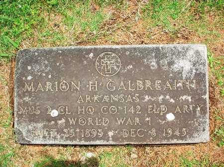 GALBREAITH (VETERAN WWI), MARION H. - Benton County, Arkansas | MARION H. GALBREAITH (VETERAN WWI) - Arkansas Gravestone Photos