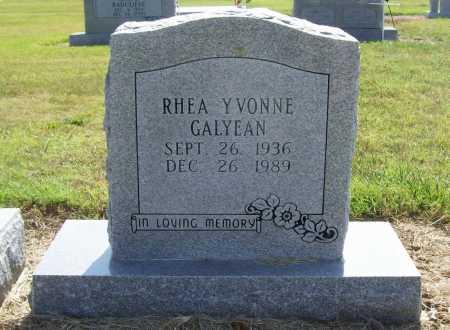 GALYEAN, RHEA YVONNE - Benton County, Arkansas | RHEA YVONNE GALYEAN - Arkansas Gravestone Photos
