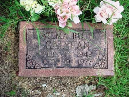 GALYEAN, WILMA RUTH - Benton County, Arkansas   WILMA RUTH GALYEAN - Arkansas Gravestone Photos