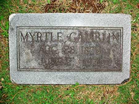 GAMBLIN, MYRTLE - Benton County, Arkansas | MYRTLE GAMBLIN - Arkansas Gravestone Photos