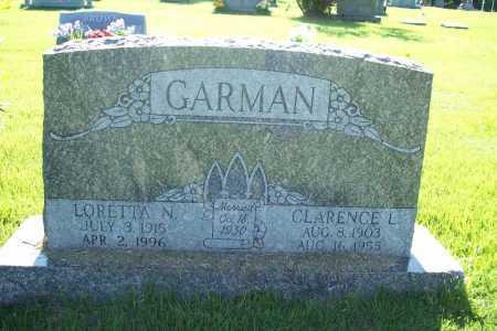 GARMAN, LORETTA N. - Benton County, Arkansas | LORETTA N. GARMAN - Arkansas Gravestone Photos