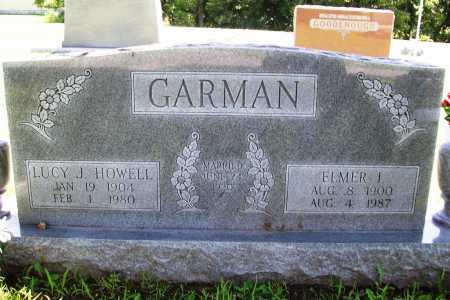 GARMAN, ELMER I. - Benton County, Arkansas | ELMER I. GARMAN - Arkansas Gravestone Photos