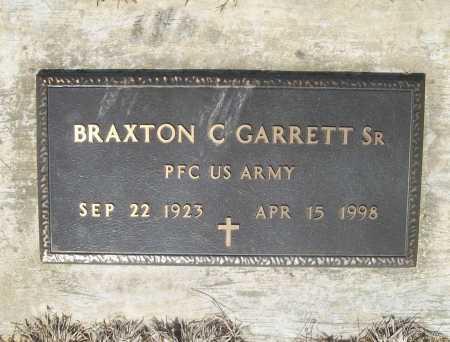 GARRETT, SR (VETERAN), BRAXTON C - Benton County, Arkansas   BRAXTON C GARRETT, SR (VETERAN) - Arkansas Gravestone Photos
