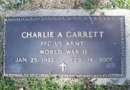 GARRETT (VETERAN WWII), CHARLIE A - Benton County, Arkansas | CHARLIE A GARRETT (VETERAN WWII) - Arkansas Gravestone Photos