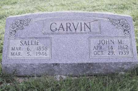 GARVIN, SALLIE - Benton County, Arkansas | SALLIE GARVIN - Arkansas Gravestone Photos