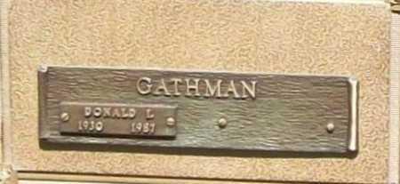 GATHMAN, DONALD I. - Benton County, Arkansas | DONALD I. GATHMAN - Arkansas Gravestone Photos