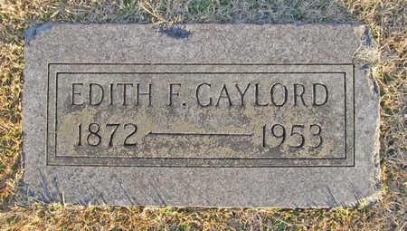 GAYLORD, EDITH F - Benton County, Arkansas | EDITH F GAYLORD - Arkansas Gravestone Photos