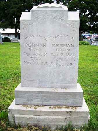 GERMAN, WILLIAM D. - Benton County, Arkansas | WILLIAM D. GERMAN - Arkansas Gravestone Photos