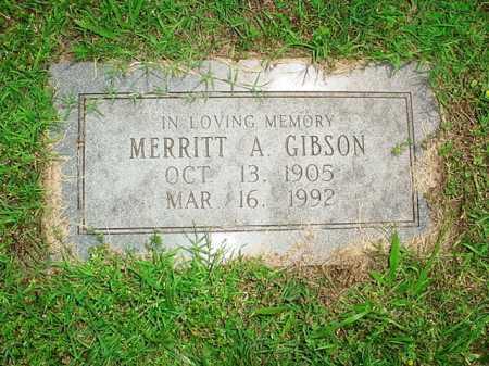 GIBSON, MERRITT A. - Benton County, Arkansas | MERRITT A. GIBSON - Arkansas Gravestone Photos
