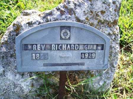 GIFT, REV. RICHARD - Benton County, Arkansas | REV. RICHARD GIFT - Arkansas Gravestone Photos