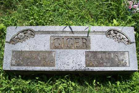 GIGER, ALICE H. - Benton County, Arkansas | ALICE H. GIGER - Arkansas Gravestone Photos