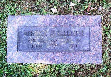 GILLESPIE, BERNICE F. - Benton County, Arkansas   BERNICE F. GILLESPIE - Arkansas Gravestone Photos