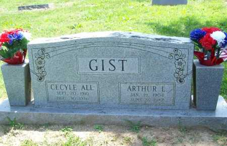 ALL GIST, CECYLE - Benton County, Arkansas | CECYLE ALL GIST - Arkansas Gravestone Photos