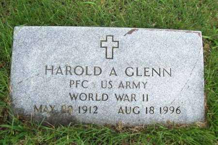 GLENN (VETERAN WWII), HAROLD A. - Benton County, Arkansas | HAROLD A. GLENN (VETERAN WWII) - Arkansas Gravestone Photos