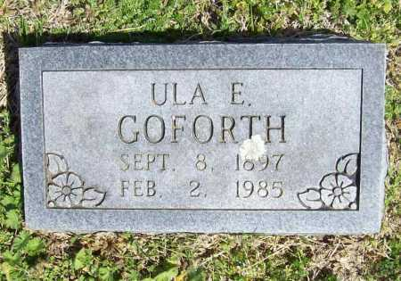 STRODER GOFORTH, ULA E. - Benton County, Arkansas | ULA E. STRODER GOFORTH - Arkansas Gravestone Photos