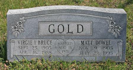 GOLD, MATT DOWEL - Benton County, Arkansas | MATT DOWEL GOLD - Arkansas Gravestone Photos