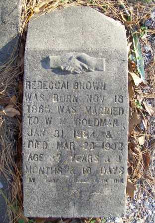 BROWN GOLDMAN, REBECCAI - Benton County, Arkansas | REBECCAI BROWN GOLDMAN - Arkansas Gravestone Photos
