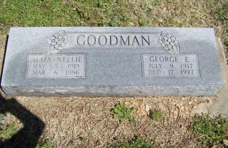 GOODMAN, GEORGE EDWARD - Benton County, Arkansas   GEORGE EDWARD GOODMAN - Arkansas Gravestone Photos