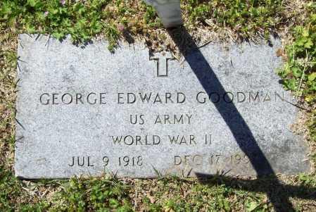 GOODMAN (VETERAN WWII), GEORGE EDWARD - Benton County, Arkansas   GEORGE EDWARD GOODMAN (VETERAN WWII) - Arkansas Gravestone Photos