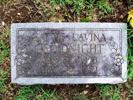 GOODNIGHT, HATTIE LAVINA - Benton County, Arkansas | HATTIE LAVINA GOODNIGHT - Arkansas Gravestone Photos