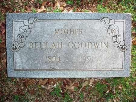 GOODWIN, BEULAH - Benton County, Arkansas   BEULAH GOODWIN - Arkansas Gravestone Photos