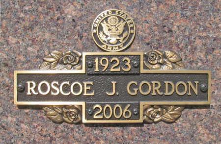 GORDON (VETERAN WWII), ROSCOE JUNIOR - Benton County, Arkansas | ROSCOE JUNIOR GORDON (VETERAN WWII) - Arkansas Gravestone Photos