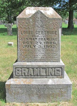 GRAMLING, LOUIE GERTRUDE - Benton County, Arkansas | LOUIE GERTRUDE GRAMLING - Arkansas Gravestone Photos