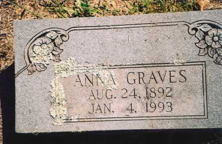GRAVES, ANNA - Benton County, Arkansas | ANNA GRAVES - Arkansas Gravestone Photos