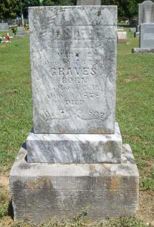 GRAVES, MARY E. - Benton County, Arkansas | MARY E. GRAVES - Arkansas Gravestone Photos