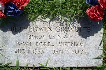 GRAVETTE (VETERAN 3 WARS), BERT EDWIN - Benton County, Arkansas   BERT EDWIN GRAVETTE (VETERAN 3 WARS) - Arkansas Gravestone Photos