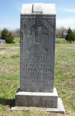 GRAYUM, LIEU - Benton County, Arkansas   LIEU GRAYUM - Arkansas Gravestone Photos
