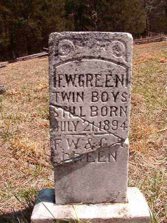 GREEN, INFANT TWIN SONS - Benton County, Arkansas | INFANT TWIN SONS GREEN - Arkansas Gravestone Photos