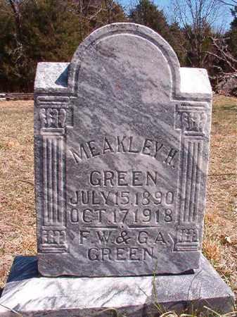 GREEN, MEAKLEY H - Benton County, Arkansas | MEAKLEY H GREEN - Arkansas Gravestone Photos