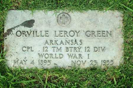 GREEN (VETERAN WWI), ORVILLE LEROY - Benton County, Arkansas | ORVILLE LEROY GREEN (VETERAN WWI) - Arkansas Gravestone Photos