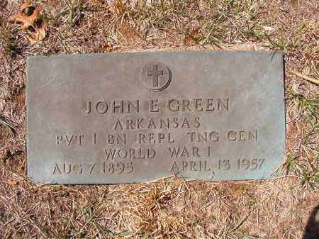 GREEN (VETERAN WWI), JOHN E - Benton County, Arkansas | JOHN E GREEN (VETERAN WWI) - Arkansas Gravestone Photos