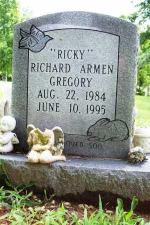 """GREGORY, RICHARD ARMEN """"RICKY"""" - Benton County, Arkansas   RICHARD ARMEN """"RICKY"""" GREGORY - Arkansas Gravestone Photos"""