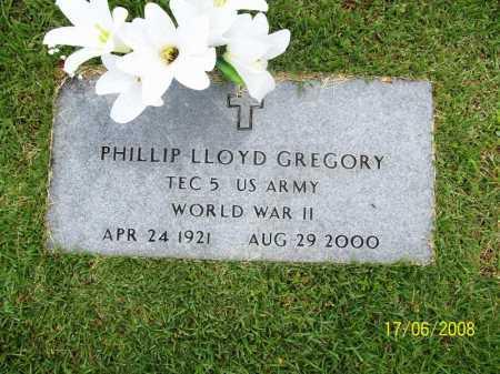 GREGORY (VETERAN WWII), PHILLIP LLOYD - Benton County, Arkansas | PHILLIP LLOYD GREGORY (VETERAN WWII) - Arkansas Gravestone Photos
