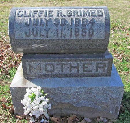 GRIMES, CLIFFIE R - Benton County, Arkansas | CLIFFIE R GRIMES - Arkansas Gravestone Photos